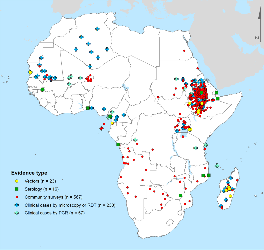 Evidence of Pv in Africa